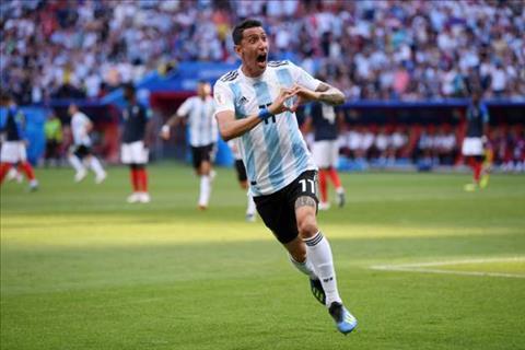 Di Maria go hoa 1-1 cho Argentina