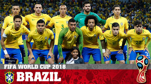 Lịch thi đấu World Cup 2018 của Brazil, LTĐ đội tuyển Brazil hình ảnh