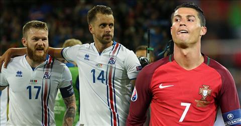 Cristiano Ronaldo tung bat luc truoc Iceland tai Euror 2016.