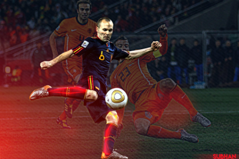 World Cup 2010 cua Andres Iniesta: Trong mien ky uc co Dani1