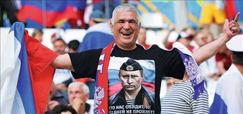 Vladimir Putin de lai dau an lon voi nuoc Nga bang World Cup 2018.