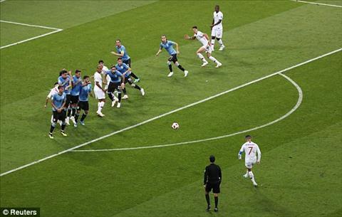 Ronaldo da phat truc tiep nhung bong khong qua hang rao
