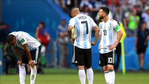 Cac cau thu Argentina som roi giai trong su that vong trong loi choi.