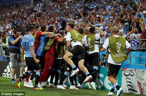 Uruguay danh bai Bo Dao Nha 2-1 qua do hen Phap o tu ket