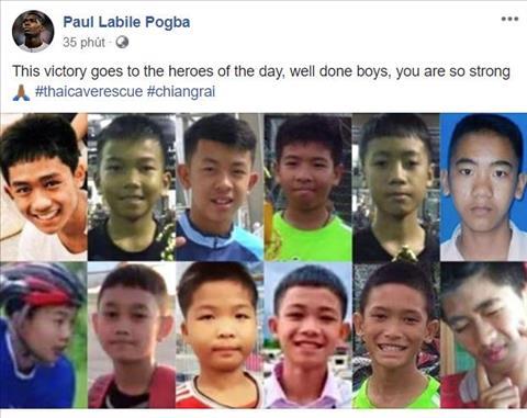 Tiền vệ Pogba chia sẻ chiến thắng trước Bỉ cùng đội bóng nhí vừa được giải cứu