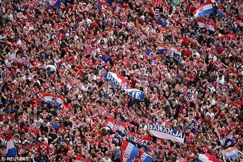 Bien nguoi chao don DT Croatia ve nuoc tai thu do Zagreb.