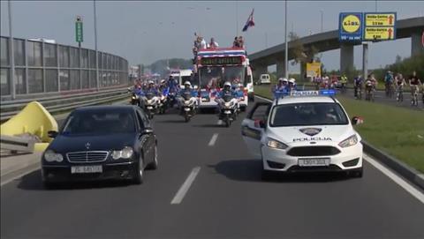 DT Croatia ve nuoc voi doan ho tong hung hau.