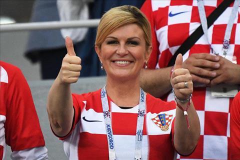 Chân dung nữ tổng thống hâm mộ bóng đá của Croatia
