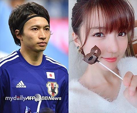 Tuyển thủ Nhật Bản kết hôn với vợ diễn viên sau World Cup 2018 hình ảnh