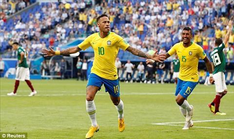 Neymar toa sang voi mot ban thang va mot kien tao giup Brazil danh bai Mexico 2-0
