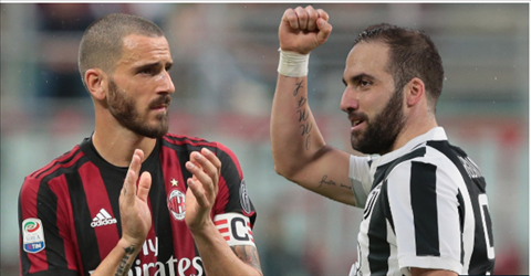 Higuain va Bonucci co the hoan doi vi tri