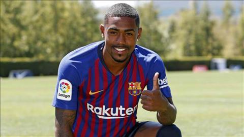 Tân binh Malcom của Barca hạnh phúc sau màn chào sân Camp Nou hình ảnh
