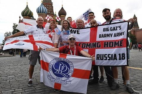 Cổ động viên ĐT Anh kéo đến Moscow trước trận gặp Colombia hình ảnh 4