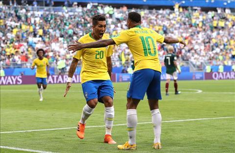 Neymar va Firmino cua Brazil an mung