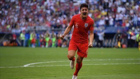 Harry Maguire ghi ban mo ti so cho DT Anh trong tran gap Thuy Dien.