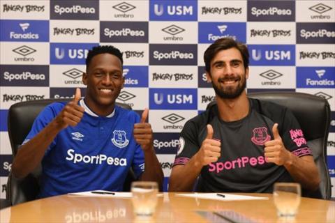 Everton chiêu mộ Yerry Mina và Andre Gomes từ Barcelona hình ảnh