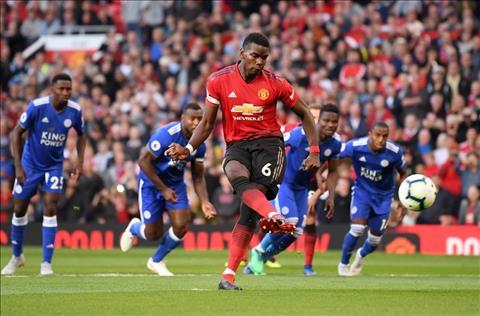 Paul Pogba trận MU 2-1 Leicester đã tỏa sáng rực rỡ hình ảnh