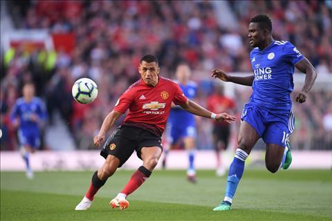 Sanchez tran M.U vs Leicester