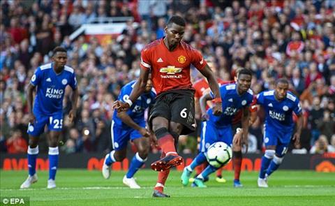 Paul Pogba tỏa sáng trong chiến thắng 2-1 của MU trước Leicester hình ảnh
