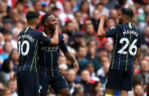 Sterling ghi ban cho Man City