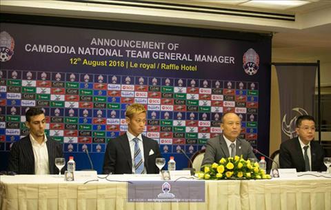 Tiền vệ Keisuke Honda làm giám đốc đội tuyển Campuchia hình ảnh
