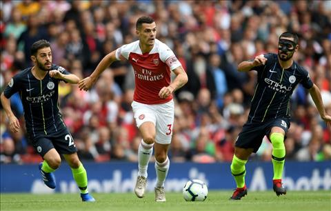 Arsenal vs Man City Bernardo Silva vs Xhaka