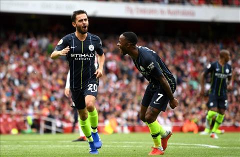 Bernardo Silva ghi ban cho Man City