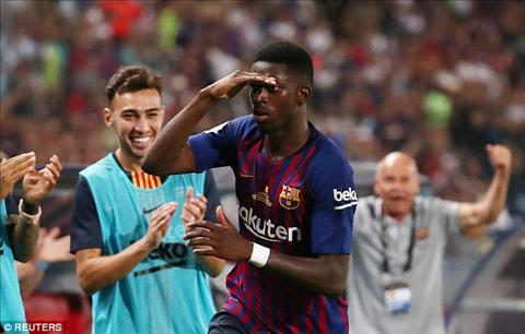 HLV Valverde phát biểu về Dembele sau trận Barca 2-1 Sevilla hình ảnh