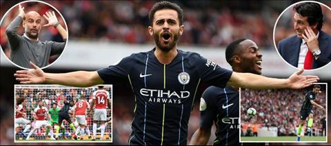 Unai Emery that bai trong tran dau tien gap Pep Guardiola o Premier League.