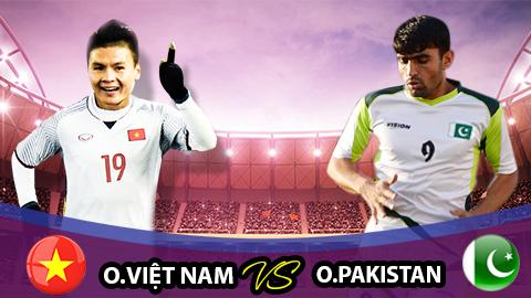 Trực tiếp U23 Việt Nam vs U23 Pakistan link xem Asiad 2018 HD hình ảnh