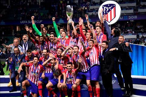 Atletico Madrid giành Siêu cúp châu Âu Diego Simeone lập kỷ lục hình ảnh