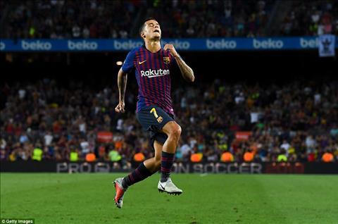 Coutinho cung dong gop 1 ban cho Barca o tran nay sau khi vao san thay nguoi