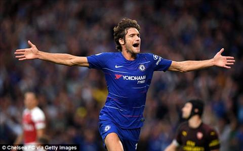 Marcos Alonso ghi ban an dinh ti so tran Chelsea vs Arsenal.