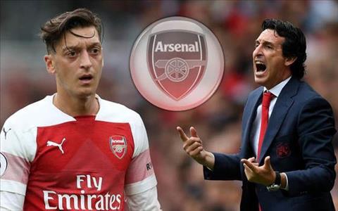 Tiền vệ Ozil và HLV Emery của Arsenal hình ảnh