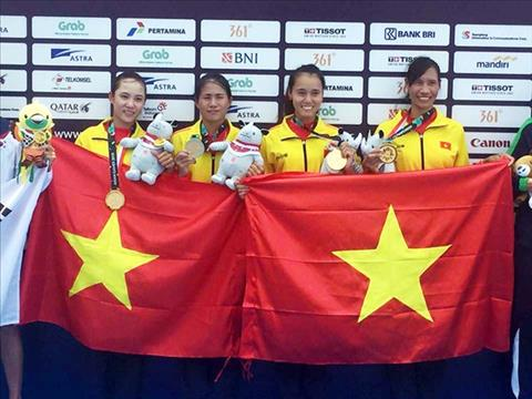 Cảm xúc của đội Rowing nữ Việt Nam đoạt HCV Asiad 2018 hình ảnh