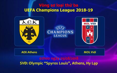 Nhận định AEK Athens vs Vidi 02h00 ngày 298 Champions League hình ảnh