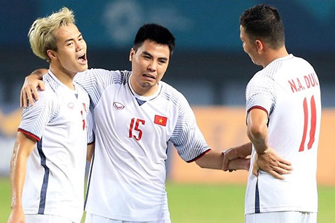 Duc Huy was doping after the victory over Syria