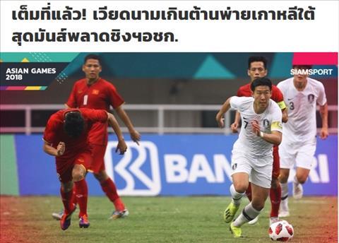Báo Thái kỳ vọng vào khả năng giành HCĐ của Olympic Việt Nam hình ảnh