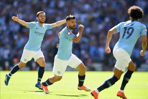 Aguero lap cu dup cho Man City