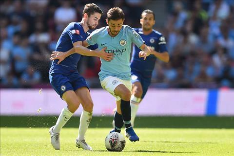 Jorginho tran Chelsea vs Man City Sieu Cup Anh 2018