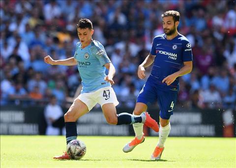 Phil Foden tran Chelsea vs Man City Sieu Cup Anh 2018