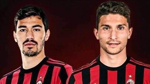 Alessio Romagnoli va Mattia Caldara cua AC Milan