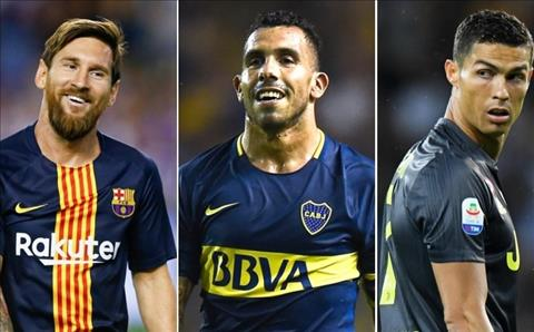 Carlos Tevez nhận xét về Lionel Messi và Cristiano Ronaldo hình ảnh