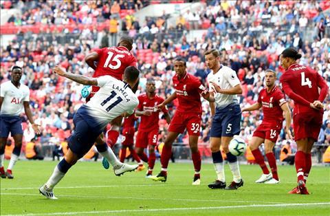 Lamele ghi ban cho Tottenham truoc Liverpool