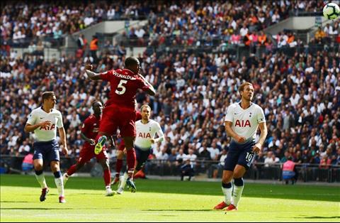 Wijnaldum danh dau ghi ban tran Liverpool vs Tottenham