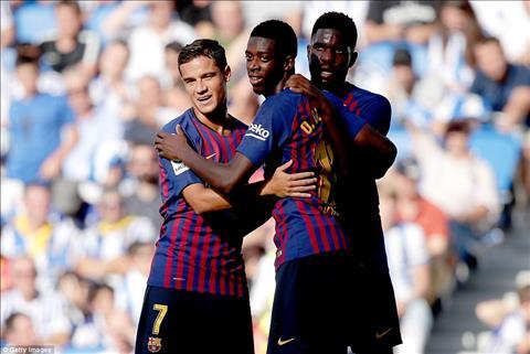 Barca thoát thua, Luis Suarez khen Philippe Coutinho hình ảnh