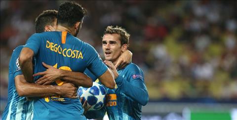 Griezmann trận Atletico vs Monaco chơi xuất sắc và được ngợi ca hình ảnh