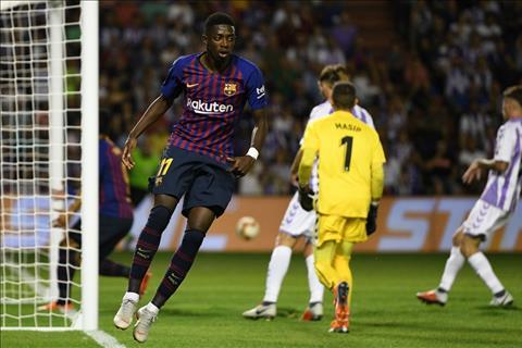 Ousmane Dembele ghi ban cho Barca