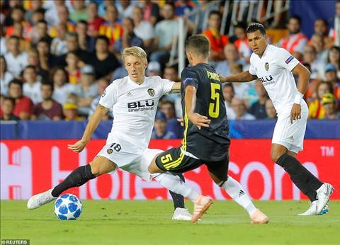 Duoc choi hon nguoi trong 2/3 thoi gian thi dau nhung Valencia van hoan toan lep ve so voi Juventus