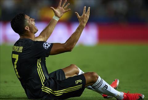 Cristiano Ronaldo nhận thẻ đỏ ở trận Valencia 0-2 Juventus hình ảnh